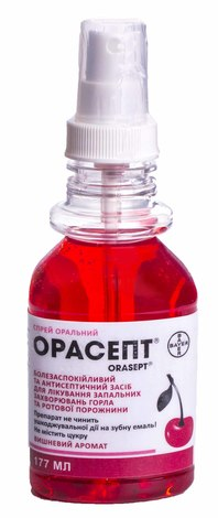 Орасепт спрей для ротової порожнини 14 мг/мл  177 мл 1 флакон