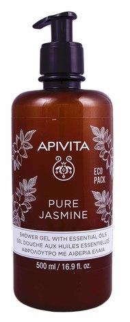"""Apivita Гель для душу з ефірними оліями """"Натуральний жасмин"""" 500 мл 1 флакон"""