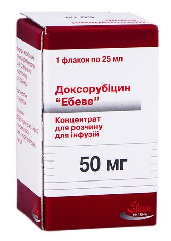 Доксорубіцин Ебеве концентрат для інфузій 50 мг 25 мл 1 флакон