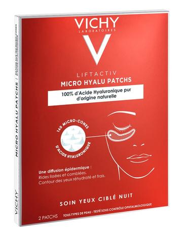 Vichy Liftactiv Патчі нічний засіб з гіалуроновою кислотою для догляду за шкірою навколо очей 2 шт