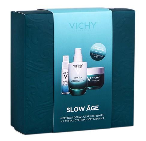 Vichy Slow Age Mineral 89 гель-бустер 10 мл + флюїд 50 мл + нічний крем-маска 50 мл 1 набір
