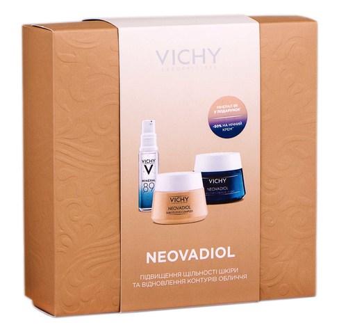 Vichy Neovadiol Mineral 89 гель-бустер 10 мл + крем-догляд 50 мл + нічний крем-догляд 50 мл 1 набір