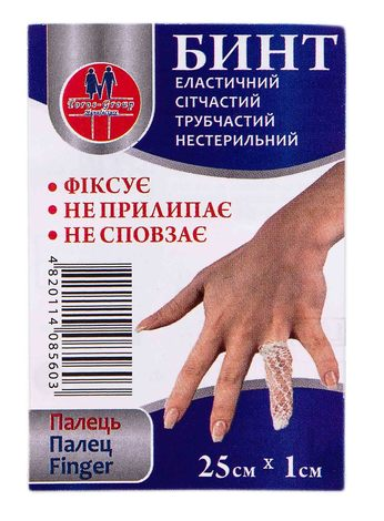 Toros-Croup 560 Бинт еластичний сітчастий трубчастий нестерильний 25х1 см палець 1 шт