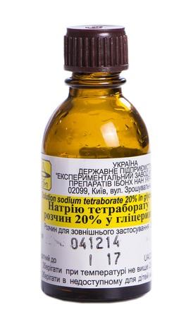 Натрію тетраборат у гліцерині розчин нашкірний 20 % 30 г 1 флакон