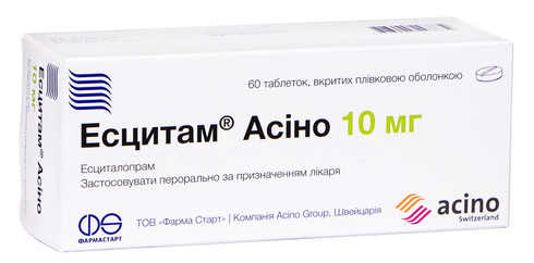 Есцитам Асіно таблетки 10 мг 60 шт