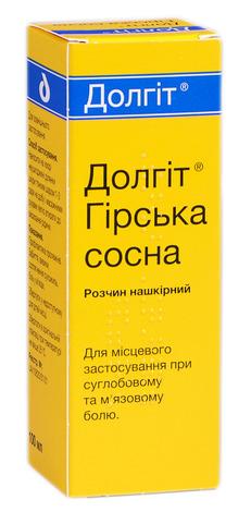 Долгіт Гірська сосна розчин нашкірний 100 мл 1 флакон