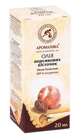Ароматика Олія персикових кісточок 20 мл 1 флакон