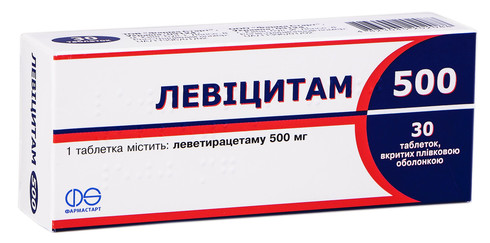 Левіцитам таблетки 500 мг 30 шт