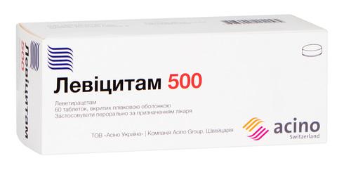 Левіцитам таблетки 500 мг 60 шт