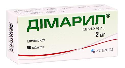 Дімарил таблетки 2 мг 60 шт