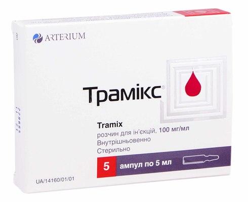Трамікс розчин для ін'єкцій 100 мг/мл 5 мл 5 ампул
