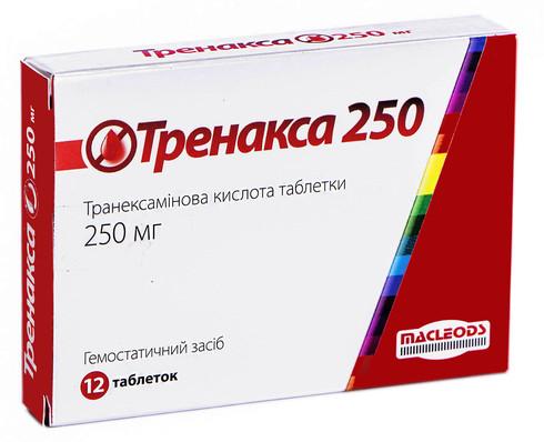 Тренакса таблетки 250 мг 12 шт