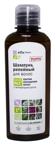Elfa Шампунь реп`яховий проти випадіння волосся 200 мл 1 флакон