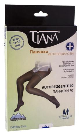 Tiana 830 Панчохи ативарикозні компресія 13-15 мм рт.ст. 70 Den розмір 6 чорний 1 пара