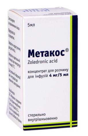 Метакос концентрат для інфузій 4 мг/5 мл  5 мл 1 флакон