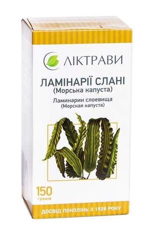 Ліктрави Ламінарії слані (морська капуста) 150 г 1 пачка