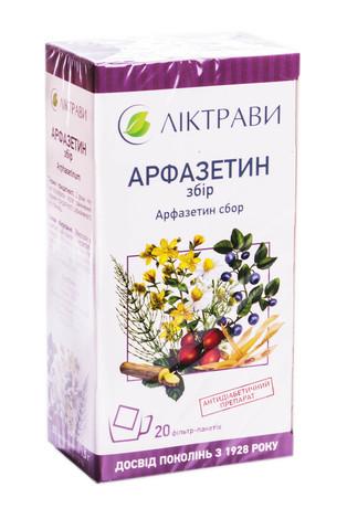 Арфазетин Ліктрави збір 1,5 г 20 фільтр-пакетів
