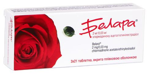 Белара таблетки 2 мг/0,03 мг  63 шт