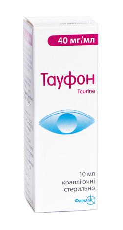 Тауфон краплі очні 40 мг/мл 10 мл 1 флакон