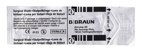 B.Braun  Лезо для скальпеля карбонове 22 1 шт