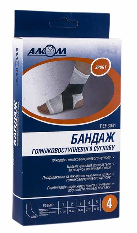 Алком 3041 Бандаж гомілковоступневого суглобу розмір 4 1 шт
