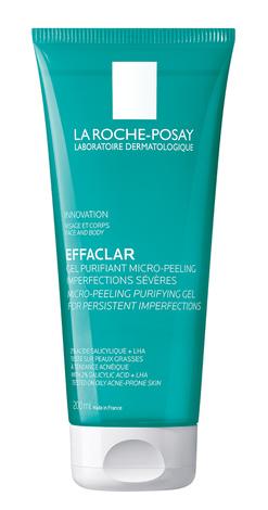 La Roche-Posay Effaclar Гель-мікропілінг для очищення жирної проблемної шкіри для зменшення стійких недоліків 200 мл 1 туба