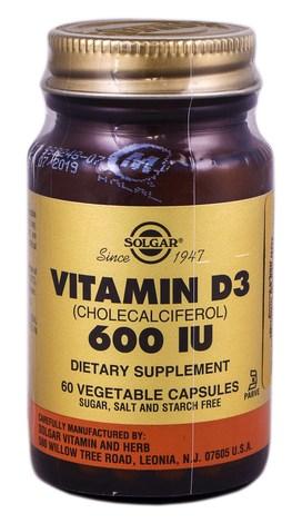 Solgar Вітамін Д3 капсули 600 МО 60 шт