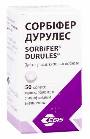 Сорбіфер Дурулес таблетки 320 мг/60 мг  50 шт