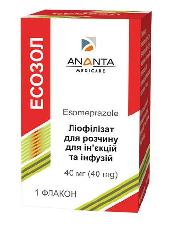 Есозол ліофілізат для розчину для ін'єкцій та інфузій 40 мг 1 флакон