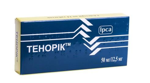 Тенорік таблетки 50 мг/12,5 мг  28 шт