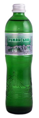 Лужанська Вода мінеральна природна лікувально-столова сильногазована 0,5 л 1 пляшка