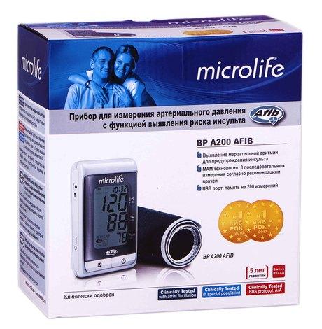 Microlife BP A200 AFIB Тонометр автоматичний з виявленням ризику інсульту 1 шт