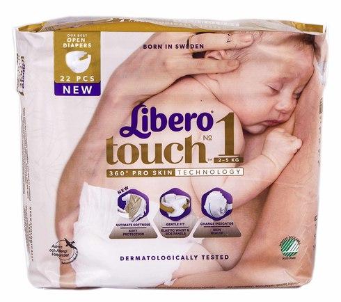 Libero Touch 1 Підгузки для немовлят 2-5 кг 22 шт