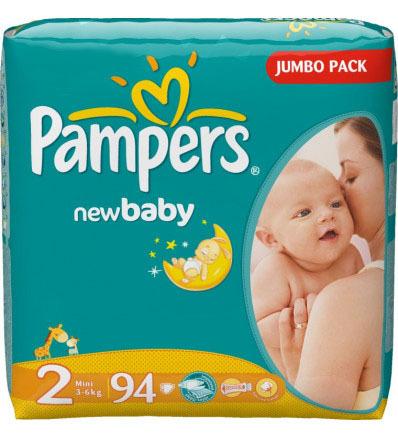Pampers New Baby-Dry 2 Mini Підгузки дитячі 3-6 кг 94 шт