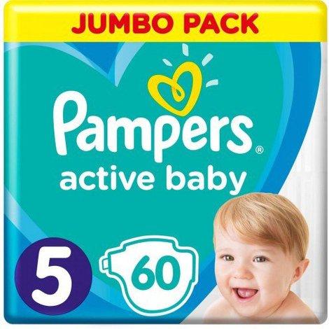Pampers Active Baby-Dry 5 Junior Підгузки дитячі 11-16 кг 60 шт