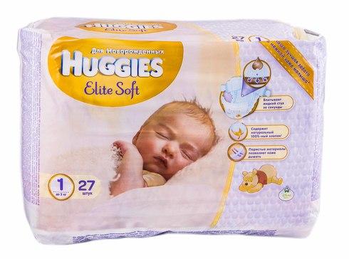 Huggies Elite Soft 1 Підгузки для новонароджених до 5 кг 27 шт