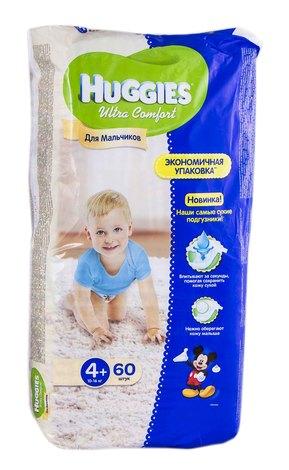 Huggies Ultra Comfort 4+ Підгузки для хлопчиків 10-16 кг 60 шт