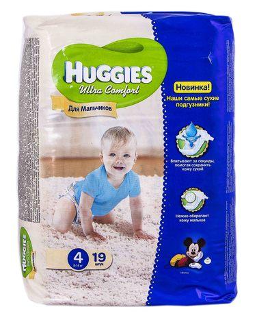 Huggies Ultra Comfort 4 Підгузки для хлопчиків 8-14 кг 19 шт