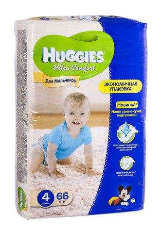 Huggies Ultra Comfort 4 Підгузки для хлопчиків 8-14 кг 66 шт