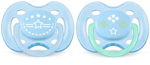 Avent Philips Пустушка Freeflow для хлопчиків 0-6 місяців SCF172/01 2 шт
