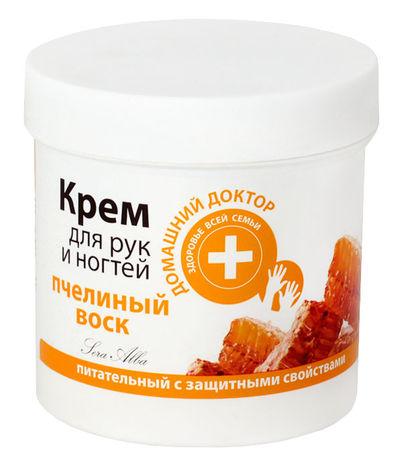 Домашній Доктор Крем для рук та нігтів Бджолиний віск 250 мл 1 банка