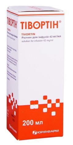 Тіворін розчин для інфузій 42 мг/мл 200 мл 1 пляшка