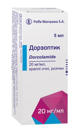 Дорзоптик краплі очні 20 мг/мл 5 мл 1 флакон