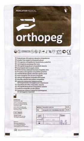 Orthopeg Рукавички латексні хірургічні ортопедичні неприпудрені стерильні розмір 8,5 1 пара