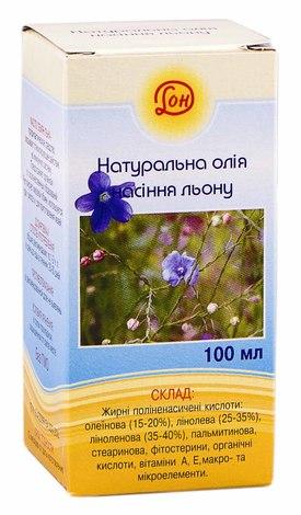 Олія насіння льону олія 100 мл 1 флакон