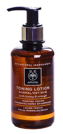 Apivita Cleansing Лосьйон тонізуючий для нормальної та сухої шкіри з медом і апельсином 200 мл 1 флакон