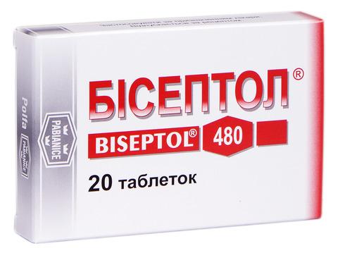Бісептол таблетки 400 мг/80 мг  20 шт