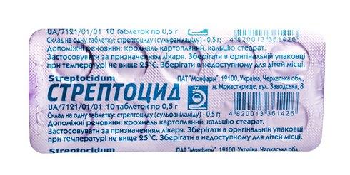 Стрептоцид таблетки 500 мг 10 шт