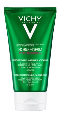 Vichy Normaderm Phytosolution Крем-гель матуючий для очищення і зменшення жирного блиску шкіри обличчя 125 мл 1 туба