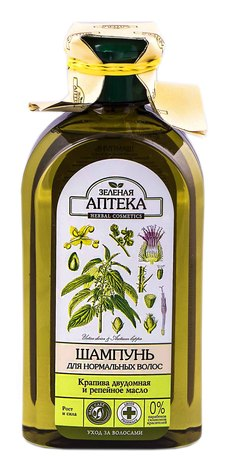 Зелена Аптека Шампунь для нормального волосся кропива дводомна та реп'яхова олія 350 мл 1 флакон